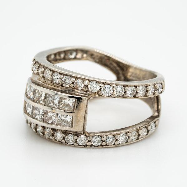 Diamond Cocktail Ring - image 3