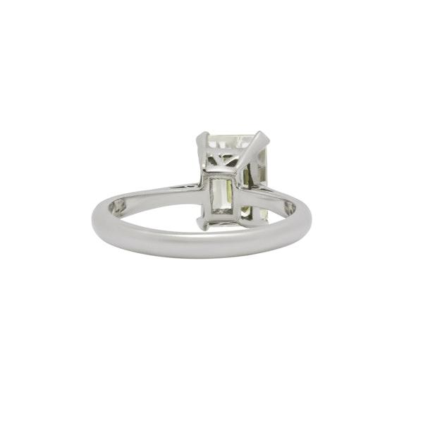 Diamond Emerald Cut Engagement Ring - image 2