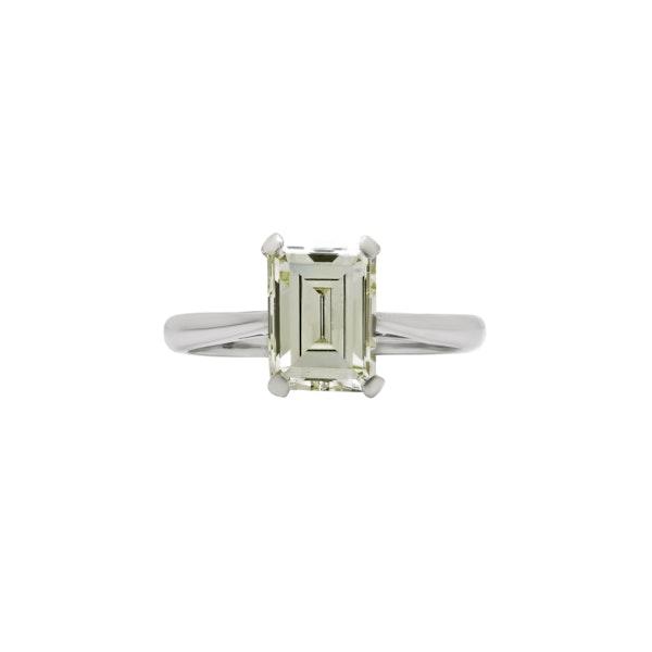Diamond Emerald Cut Engagement Ring - image 1