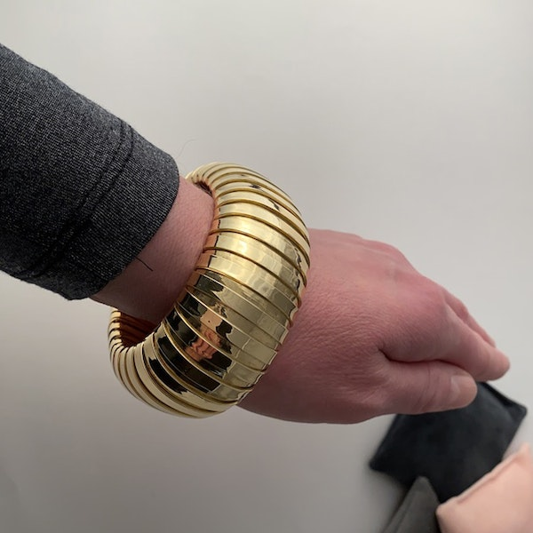1980's, 18ct Yellow Gold Bracelet by Carlo Weingril, SHAPIRO & Co since1979 - image 3