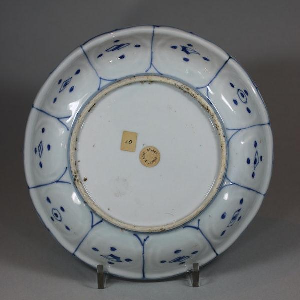 Chinese blue and white kraak lobed dish, Wanli (1573-1603) - image 2