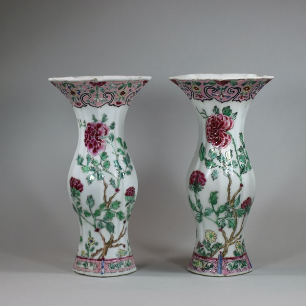 Pair of famille rose vases of baluster shape, Qianlong (1736-95) - image 8