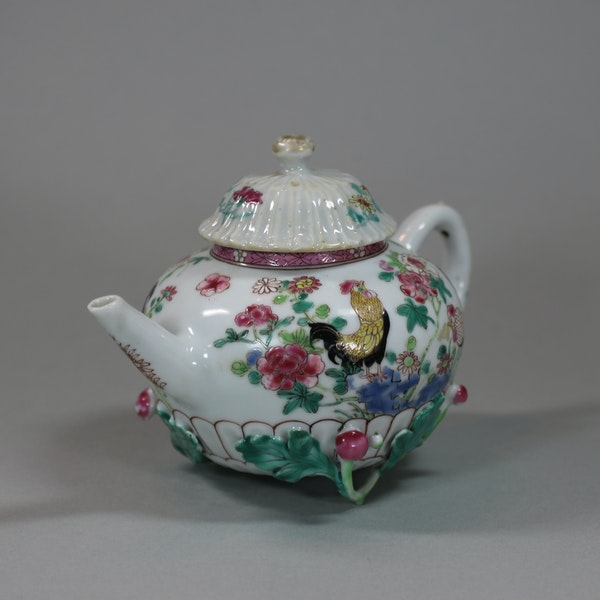 Chinese famille rose teapot and cover, Yongzheng (1723-35) - image 7