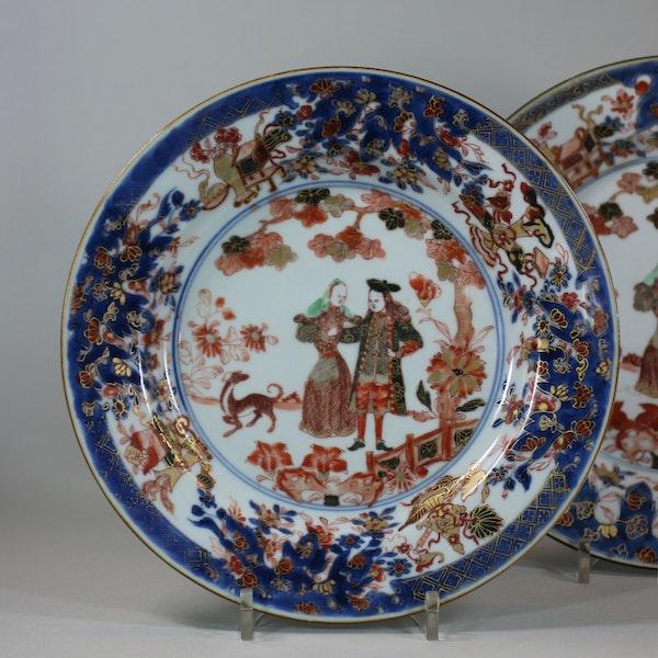 Pair of Chinese verte-imari 'Governor Duff' plates, Yongzheng, circa 1725-30 - image 3