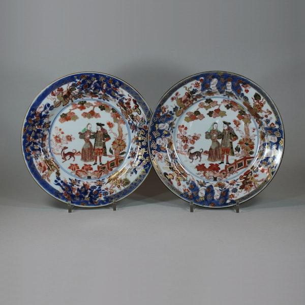 Pair of Chinese verte-imari 'Governor Duff' plates, Yongzheng, circa 1725-30 - image 1