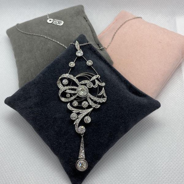 Date circa 1905, Platinum and Diamond Pendant, SHAPIRO & Co since1979 - image 2
