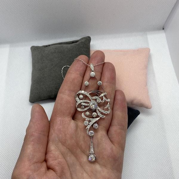 Date circa 1905, Platinum and Diamond Pendant, SHAPIRO & Co since1979 - image 3