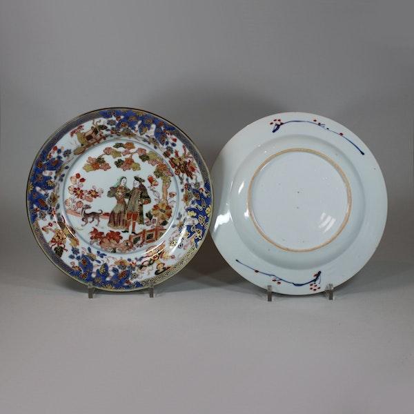 Pair of Chinese verte-imari 'Governor Duff' plates, Yongzheng, circa 1725-30 - image 7