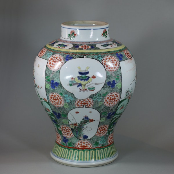 Chinese famille verte baluster vase, Kangxi (1662-1722) - image 4
