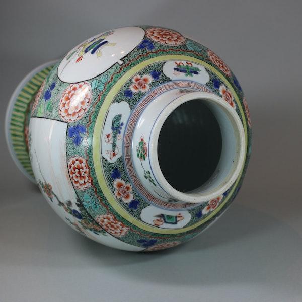 Chinese famille verte baluster vase, Kangxi (1662-1722) - image 7