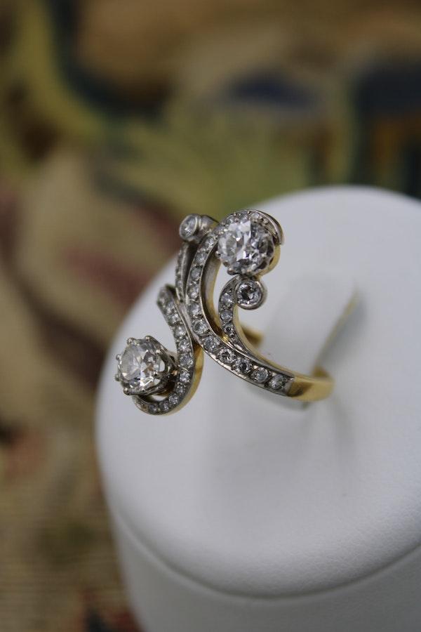 "18ct Yellow Gold & Platinum ""Belle Epoque"" Style Diamond Ring Circa 1915 - image 1"