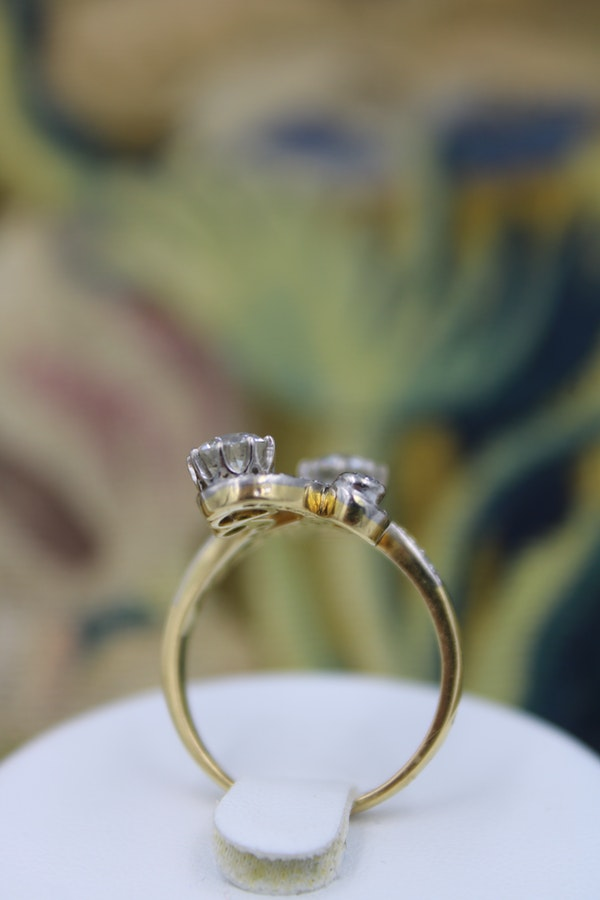 "18ct Yellow Gold & Platinum ""Belle Epoque"" Style Diamond Ring Circa 1915 - image 2"