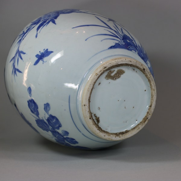 Chinese blue and white transitional jar, circa 1650 - image 4