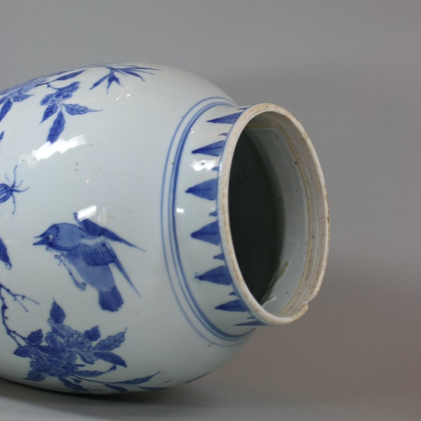 Chinese blue and white transitional jar, circa 1650 - image 5