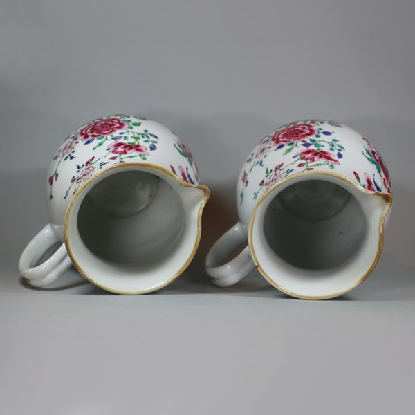Pair of large Chinese famille rose jugs and covers, Qianlong (1736-95) - image 9