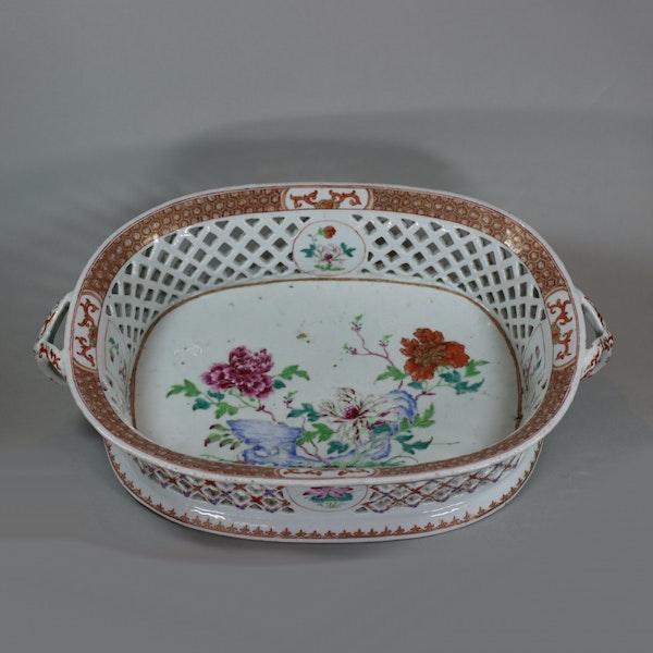 Chinese famille rose basket, Qianlong (1736-95) - image 2