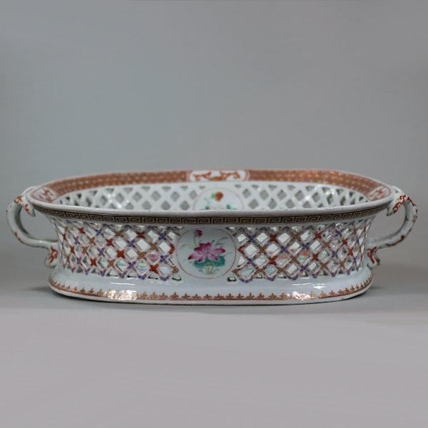 Chinese famille rose basket, Qianlong (1736-95) - image 6