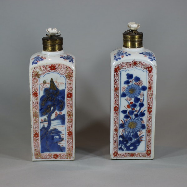Pair of Chinese imari gin bottles, Kangxi (1662-1722) - image 9