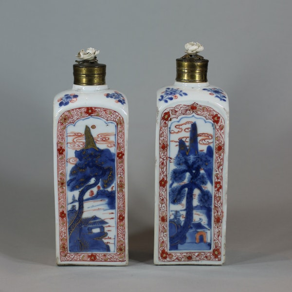 Pair of Chinese imari gin bottles, Kangxi (1662-1722) - image 8
