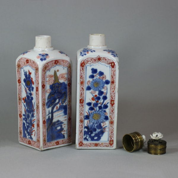 Pair of Chinese imari gin bottles, Kangxi (1662-1722) - image 5