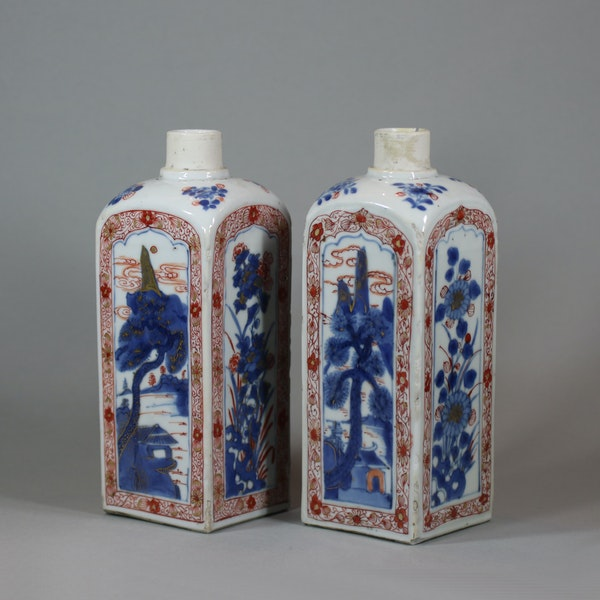 Pair of Chinese imari gin bottles, Kangxi (1662-1722) - image 6