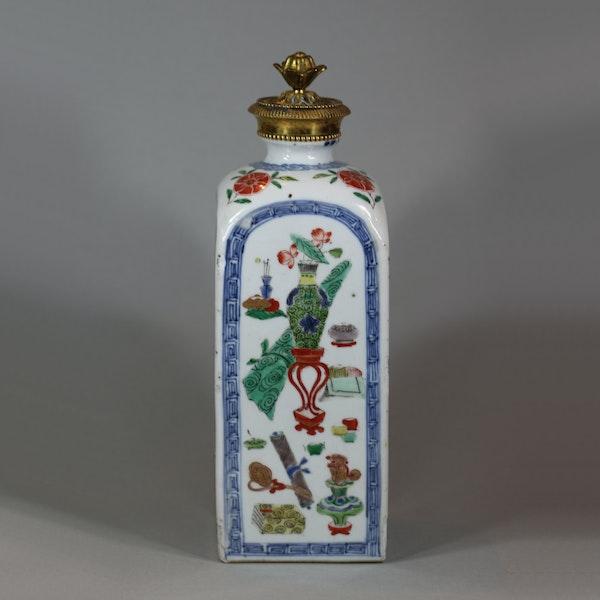 Chinese famille verte gin flask, Kangxi (1662-1722) - image 6