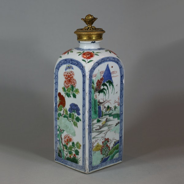 Chinese famille verte gin flask, Kangxi (1662-1722) - image 1