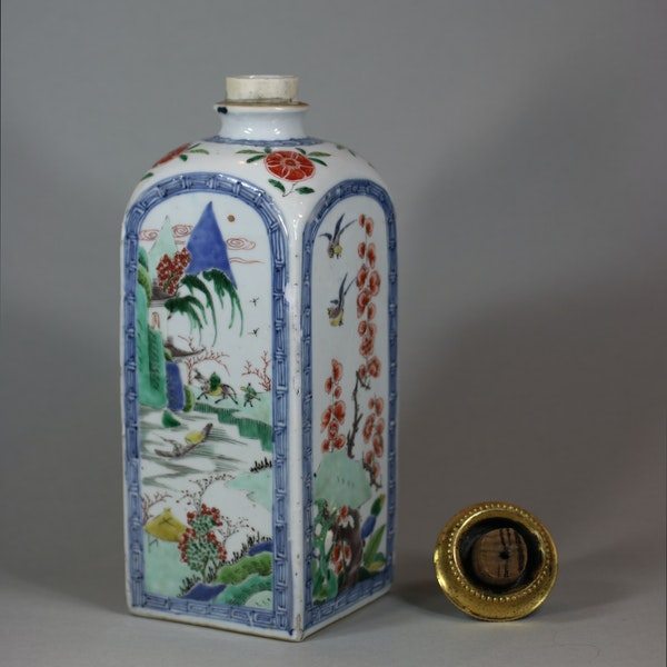 Chinese famille verte gin flask, Kangxi (1662-1722) - image 7