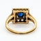Art Deco diamond and sapphire square shape cluster ring - image 4