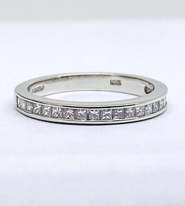 Half Eternity, Platinum 0.88ct Diamond Ring - image 1