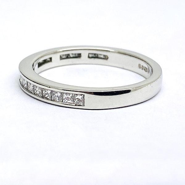 Half Eternity, Platinum 0.88ct Diamond Ring - image 2