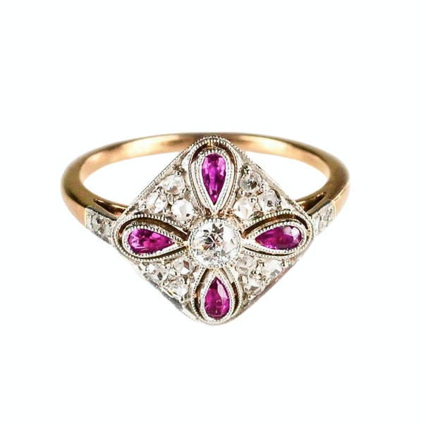 An Art Deco Ruby and Diamond Ring - image 2