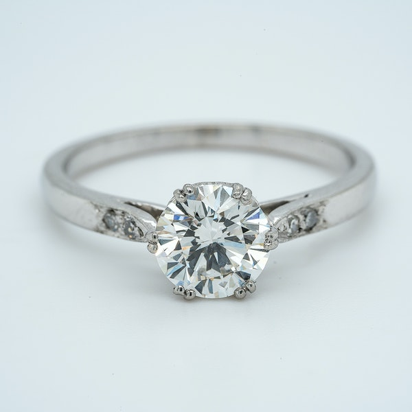 Platinum 1.01ct Diamond Solitaire Engagement Ring - image 1