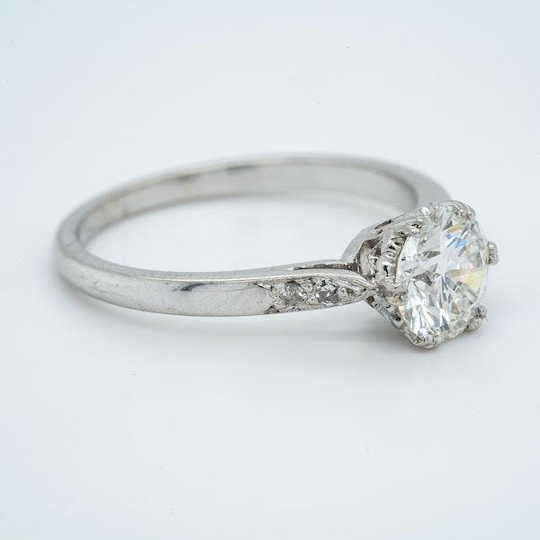 Platinum 1.01ct Diamond Solitaire Engagement Ring - image 2