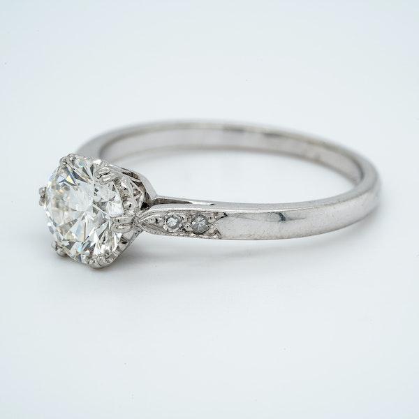 Platinum 1.01ct Diamond Solitaire Engagement Ring - image 3