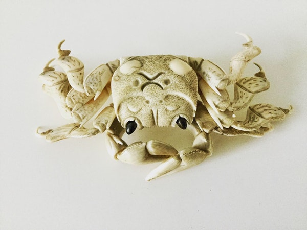 Okimono of articulated crab - image 1