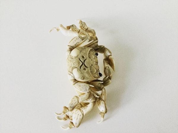 Okimono of articulated crab - image 3