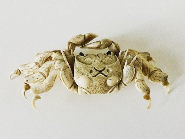 Okimono of articulated crab - image 2