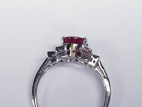 Ruby and Baguette Diamond Ring  DBGEMS - image 3