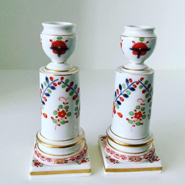 Pair of Meissen candlesticks - image 3