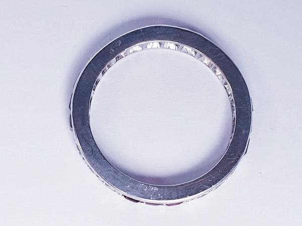 art deco ruby and diamond eternity ring  DBGEMS - image 1