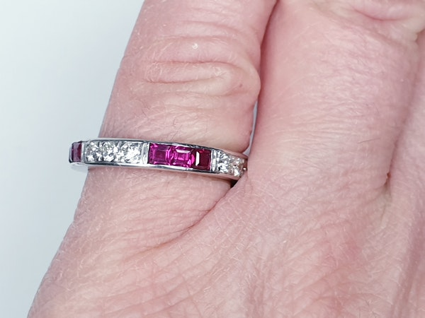 art deco ruby and diamond eternity ring  DBGEMS - image 2