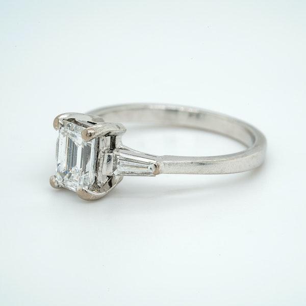 Platinum 1.08ct Diamond Solitaire Engagement Ring - image 3