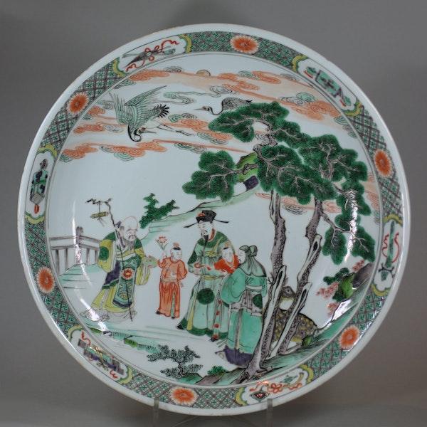 Chinese famille verte dish, Kangxi (1662-1722) - image 1
