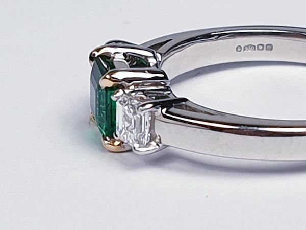 Emerald and diamond engagement ring  DBGEMS - image 1