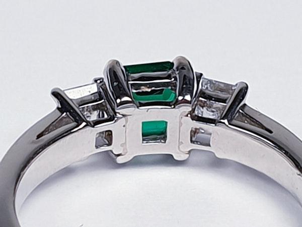 Emerald and diamond engagement ring  DBGEMS - image 2