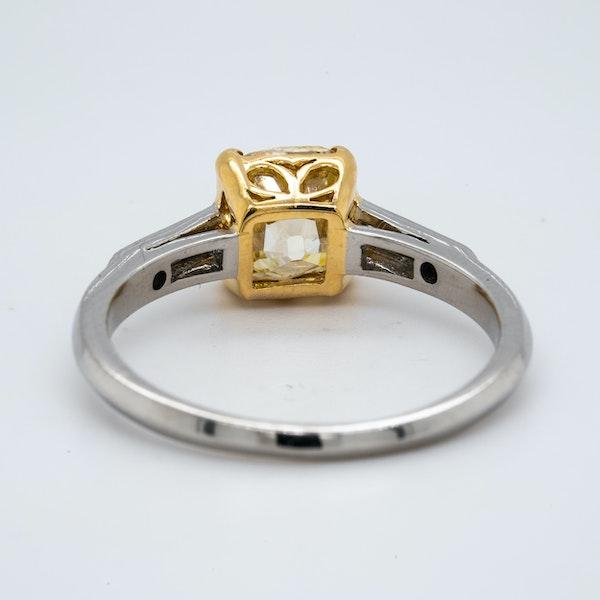 Platinum 1.90ct Natural Fancy Yellow Diamond Engagement Ring - image 3