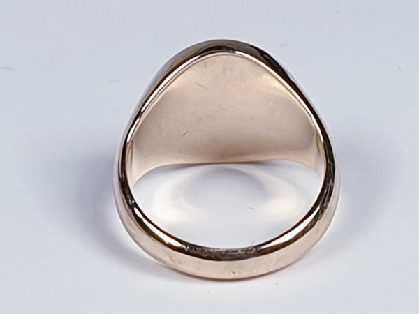 Heavy 15ct gold signet ring ideal for engraving  DBGEMS - image 3