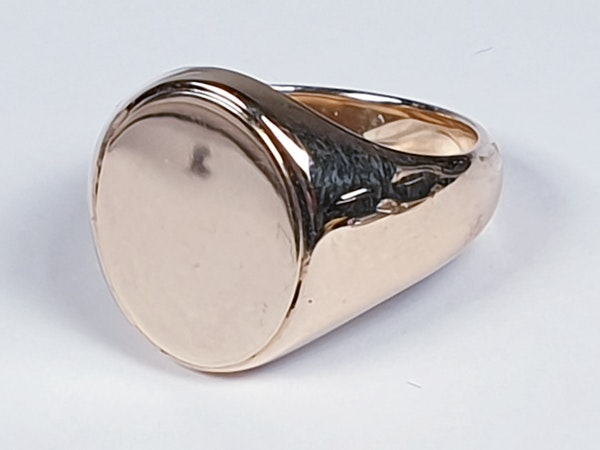 Heavy 15ct gold signet ring ideal for engraving  DBGEMS - image 1