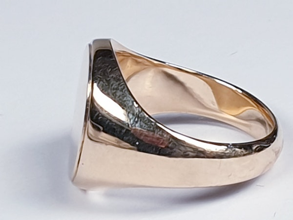 Heavy 15ct gold signet ring ideal for engraving  DBGEMS - image 4